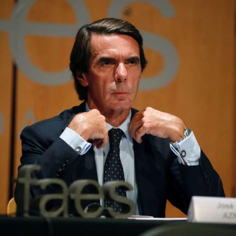 El expresidente del Gobierno José María Aznar, en una imagen reciente. EFE