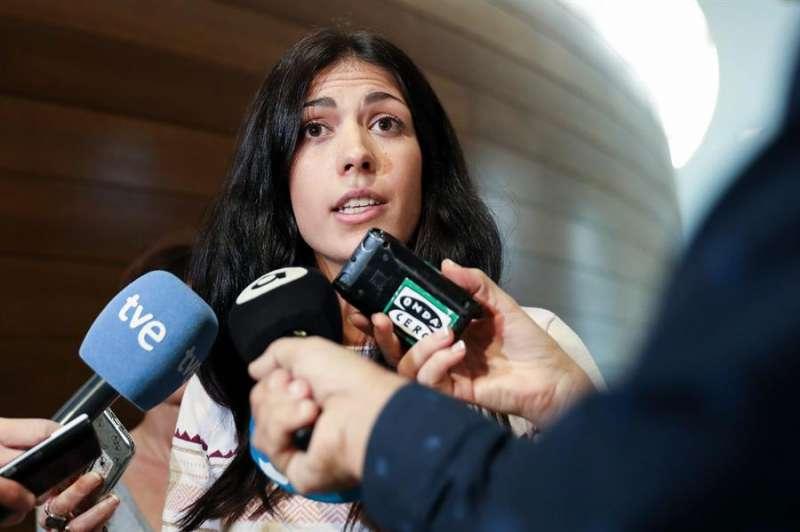 La síndica de Unides Podem, Naiara Davó, en una imagen de archivo.EFE/ Ana Escobar