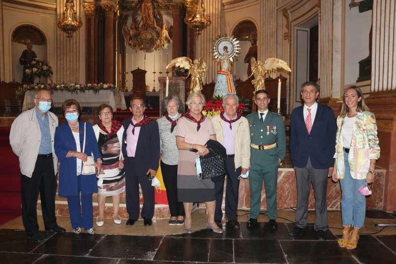 Representantes del Centro Aragonés, Guardia Civil y Ayuntamiento