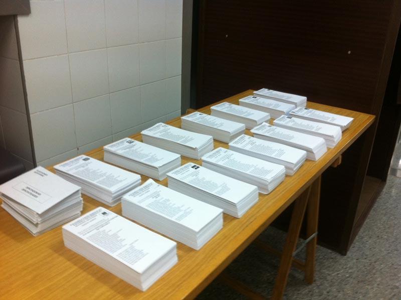 Papeletas para votar en la fiesta de la democracia. FOTO EPDA