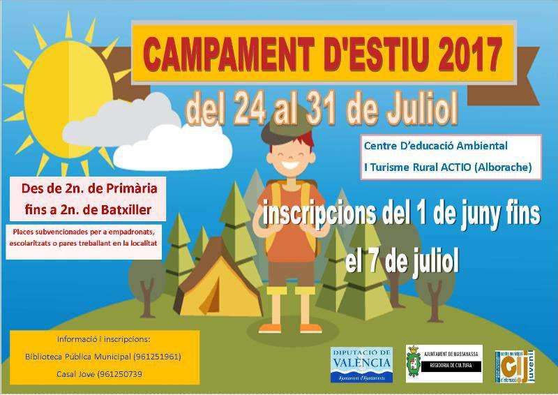 Cartell informatiu del campament d