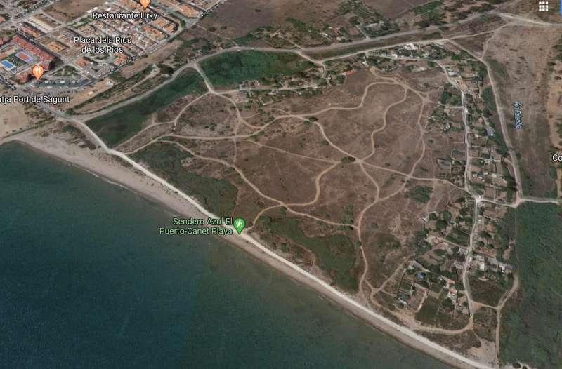 Vista aérea del Delta del Palancia.