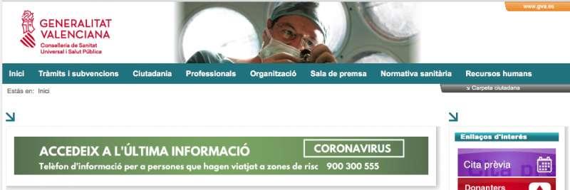 Toda la información del coronavirus en www.san.gva.es