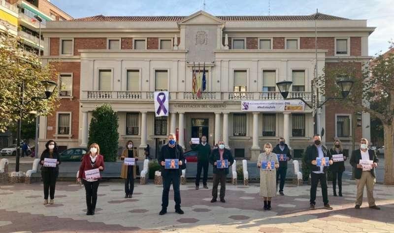 Acción de protesta de los diputados del PP