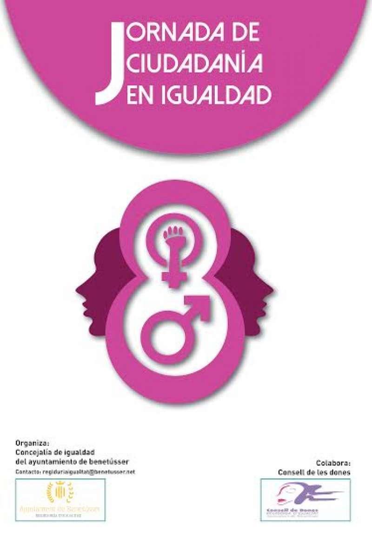 Cartel de la Jornada de Ciudadanía en Igualdad de Benetússer