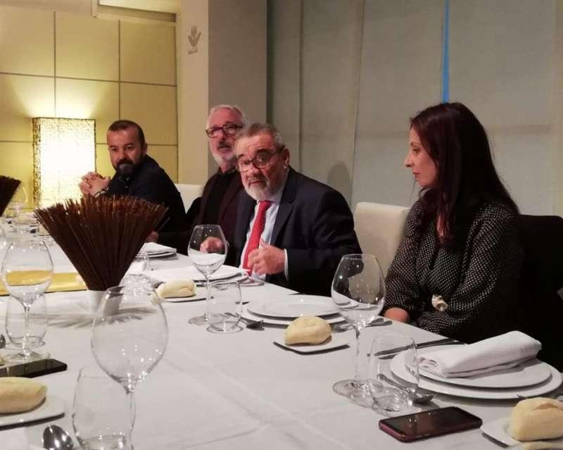 El presidente de Feria Valencia, José Vicente González, durante el encuentro con periodistas. EFE/ Inma Martínez