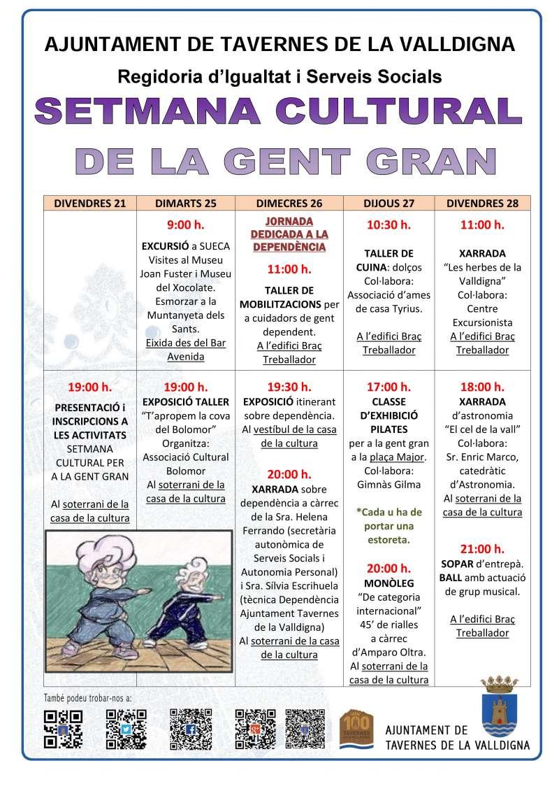 Cartell Setmana Cultural per a la Gent Gran.