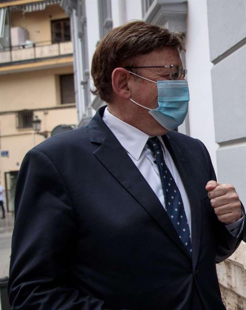 El president de la Generalitat, Ximo Puig, con mascarilla EFE