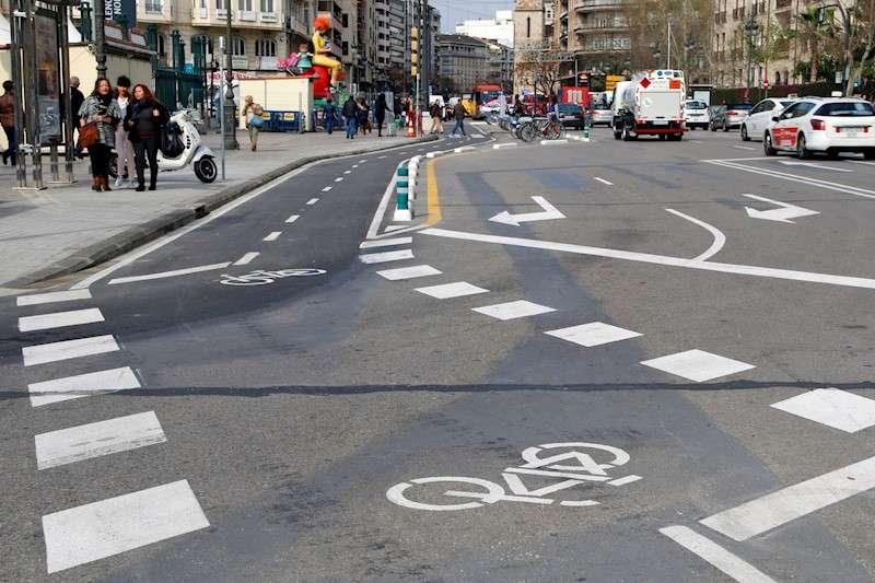 Carril bici en València. EFE/Archivo
