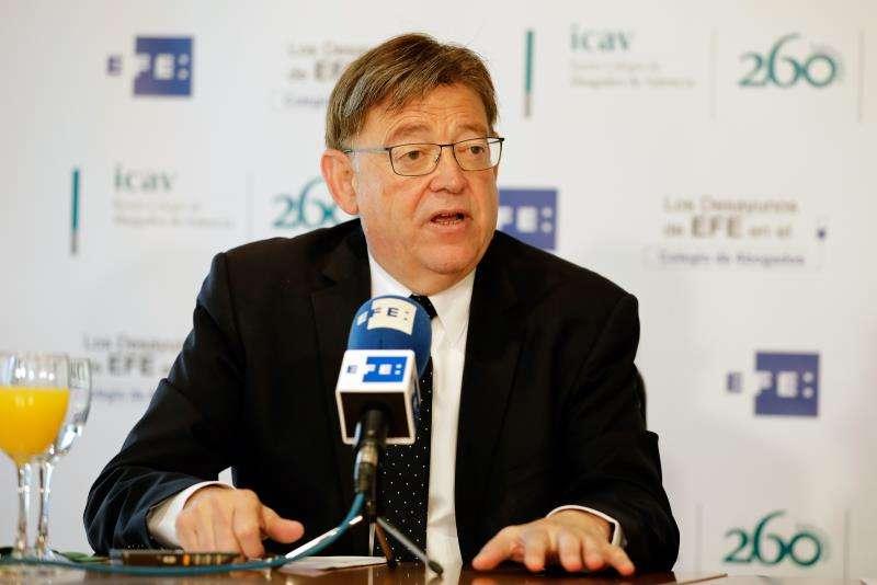 El president de la Generalitat, Ximo Puig en Los Desayunos de la Agencia EFE