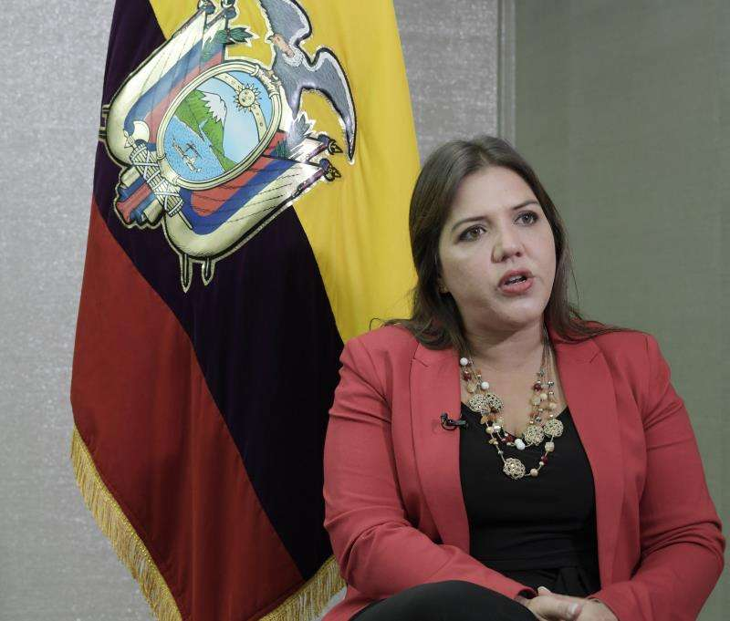 La vicepresidenta de Ecuador, María Alejandra Vicuña. EFE/Archivo