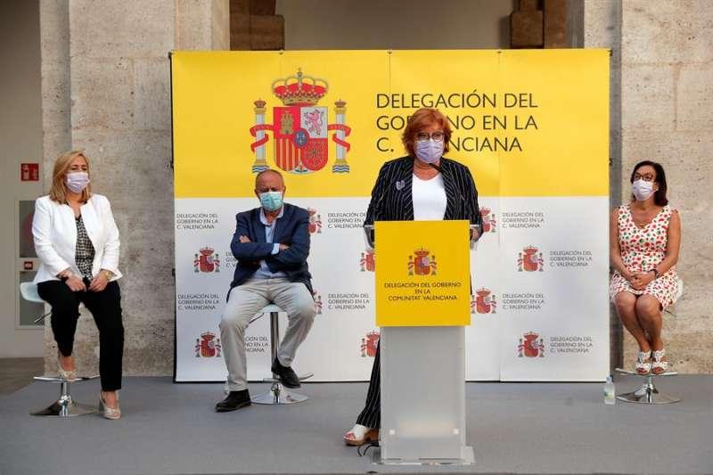 La delegada del Gobierno en la Comunitat Valenciana, Gloria Calero, (c), en una imagen de archivo. EFE/ Kai Försterling/Archivo
