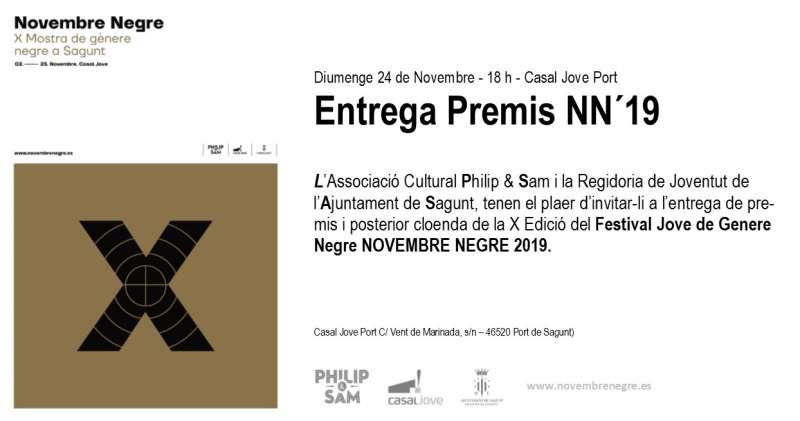 Cartel noviembre negro 2019