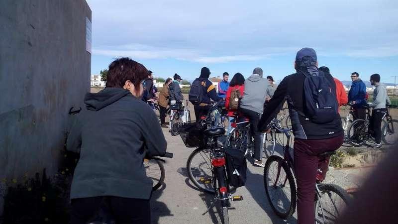 Primera edició de la bicipassejada per Almàssera. EPDA