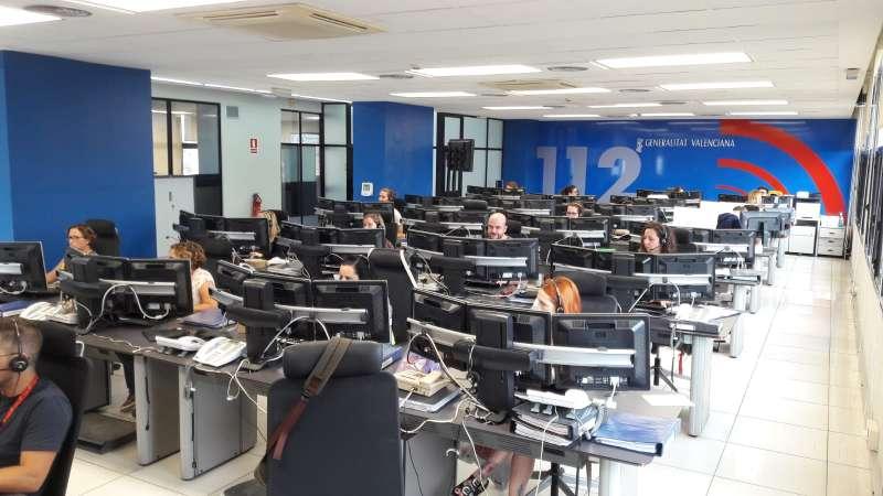 Trabajadores en el 112 GV.
