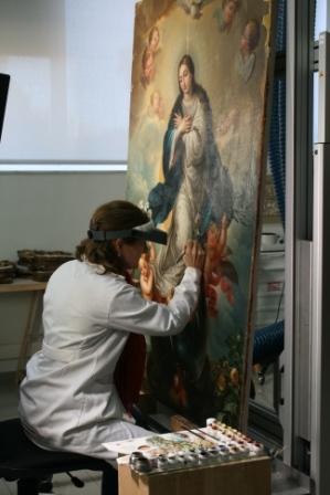 SE trata de un lienzo desconocido del pintor burgalés Mateo Cerezo que representa la Inmaculada Concepción. FOTO: EPDA