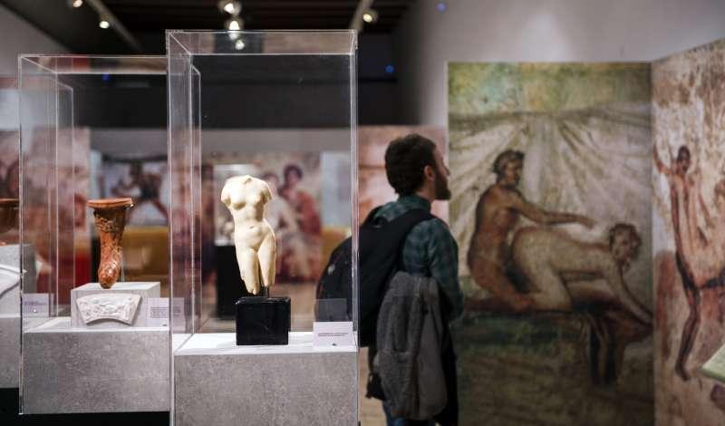 Sala con la exposición del sexo en la Roma antigua. FOTO EPDA