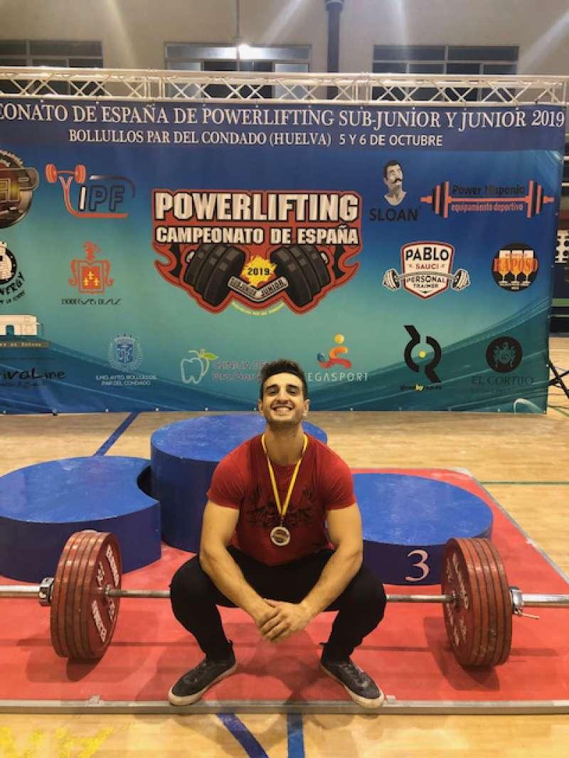 Álvaro Pedro Ponce, campeón de España Junior de powerlifting. EPDA