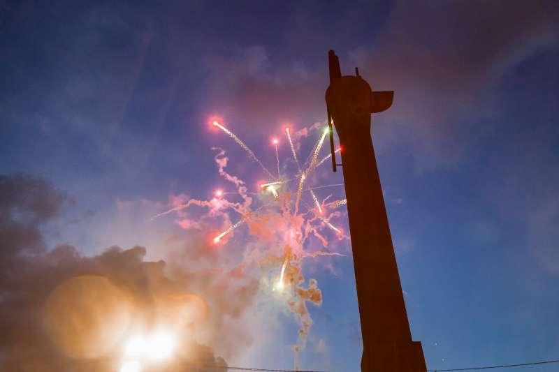 Castillo de fuegos artificiales en Mislata. EPDA