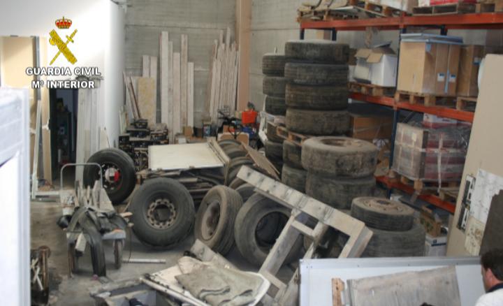 Imagen de la Operación Transportin de la Guardia Civil en la que se ha recuperado material que supera el valor de 200.000 euros.