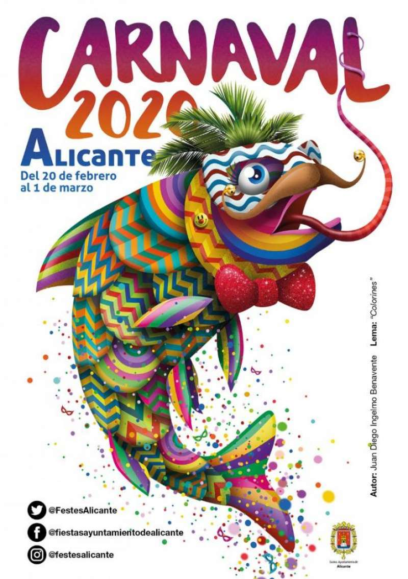 Cartel Carnaval Alicante 2020. EPDA