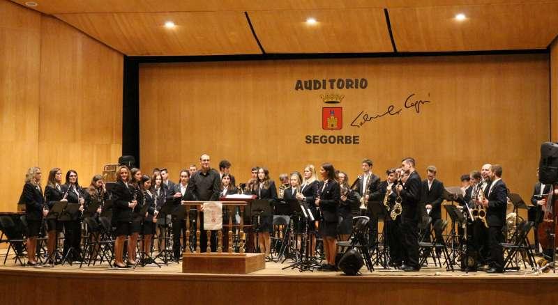 Banda de Castellnovo en el auditorio de Segorbe