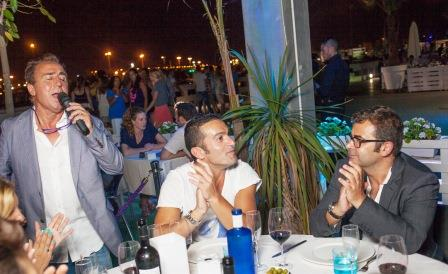 Jorge Javier Vázquez en el restaurante Arribar. Foto EPDA