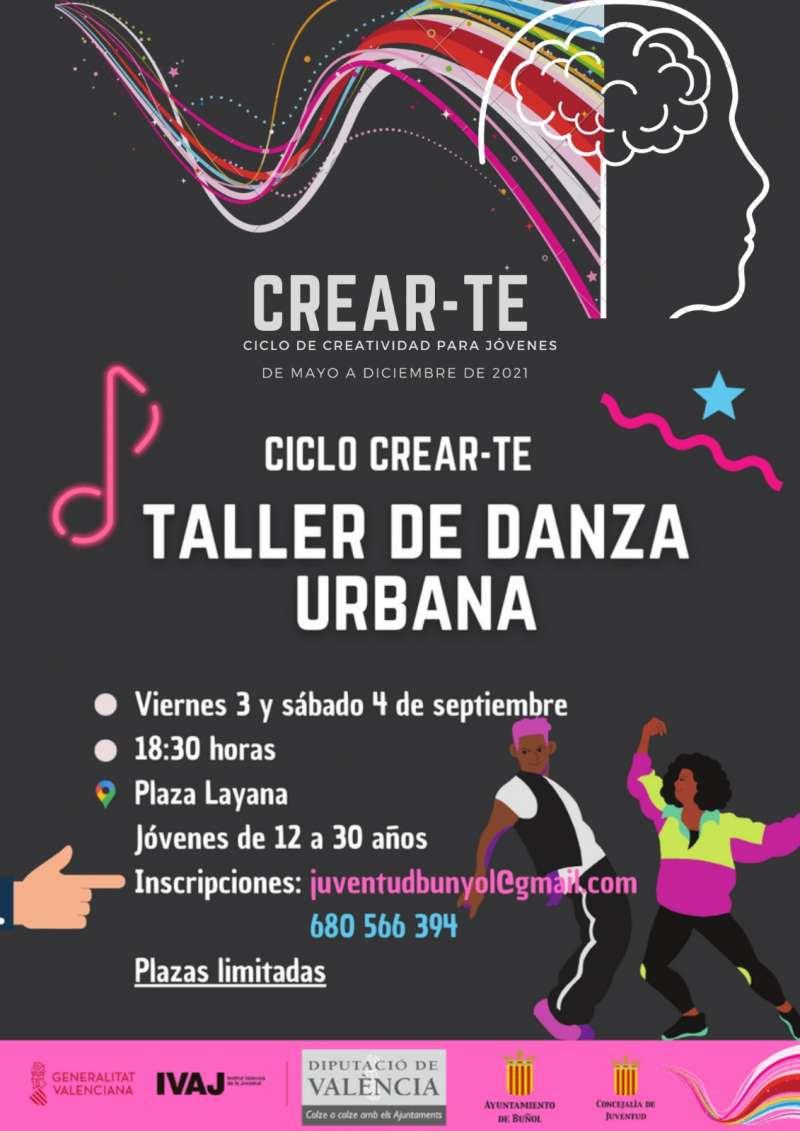 Taller de danza urbana, el cartel. / EPDA