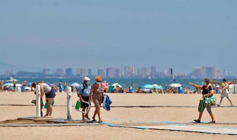 Playa de Valencia. Foto archivo EFE