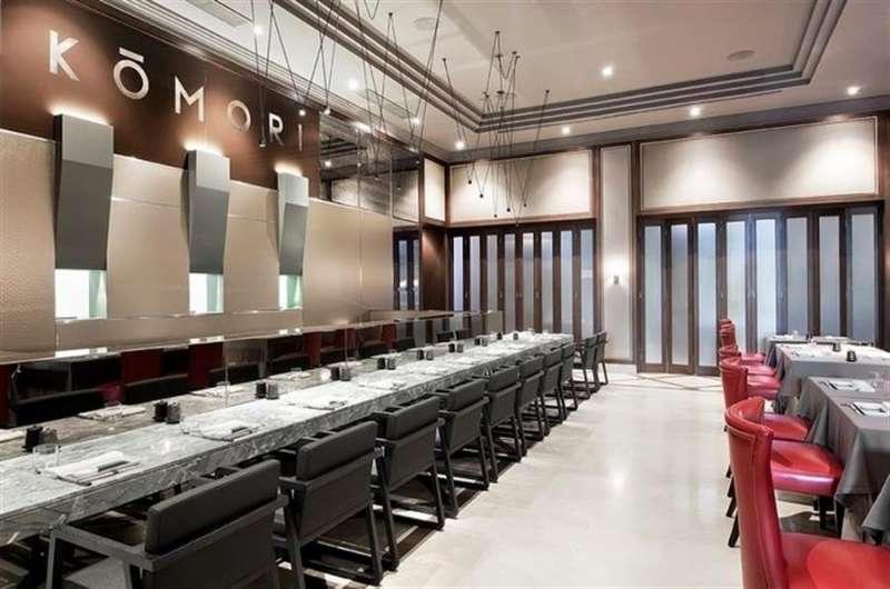 El restaurante Komori, vacío por el cierre ante el Estado de alarma, en una imagen compartida en redes sociales por el local.