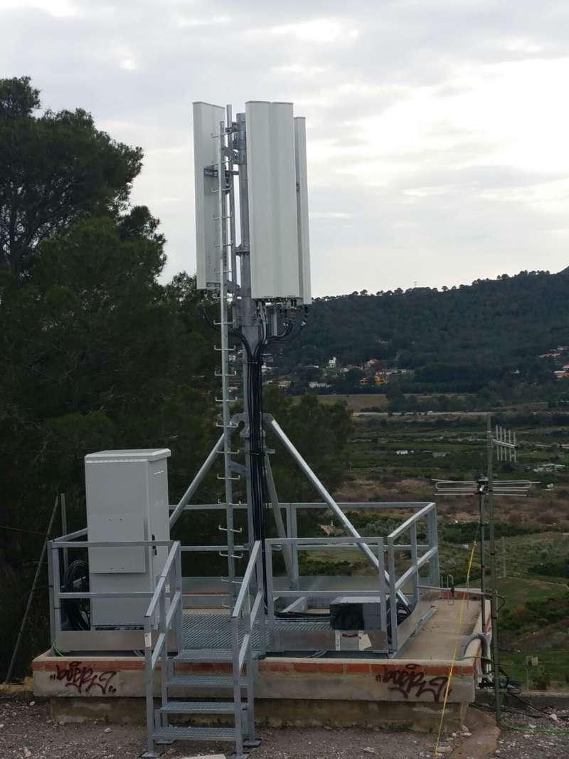 Nova antena a Petrés. EPDA