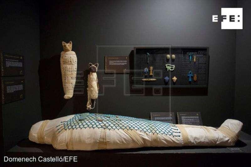 Una ambiciosa exposición ofrece en Castellón una visión diferente de la muerte y la vida de ultratumba a través de un viaje histórico por el Antiguo Egipto y su culto a la eternidad, al viaje espiritual y a la relación con el más allá.EFE
