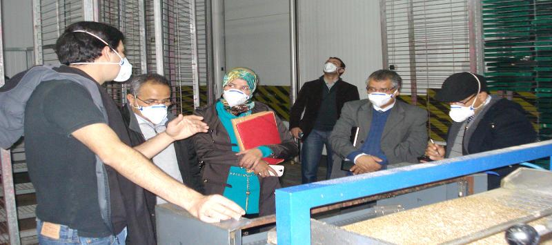 Imagen de la visita de los técnicos marroquís