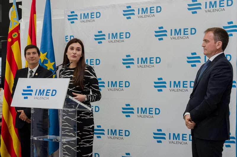 El Alcalde de Burjassot, la Consellera de Sanitat y el Director General de IMED Hospitales