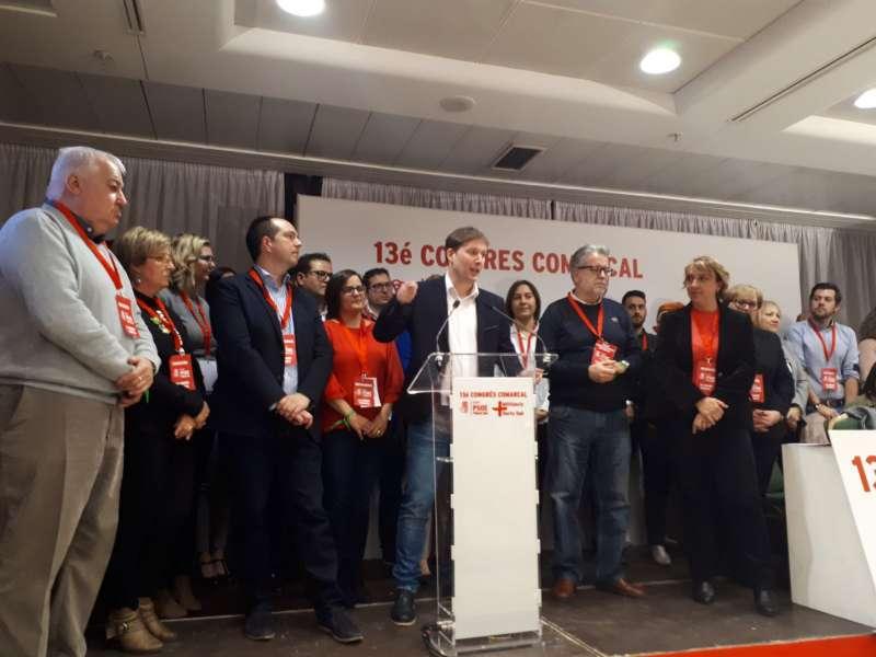 Andrés Campos en el congreso comarcal del PSPV l