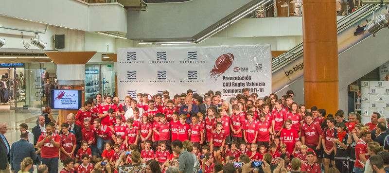 Foto de familia del CAU Rugby Valencia. EPDA