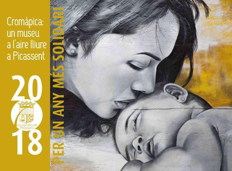 Portada del  el calendari solidari 2018 de Picassent. EPDA