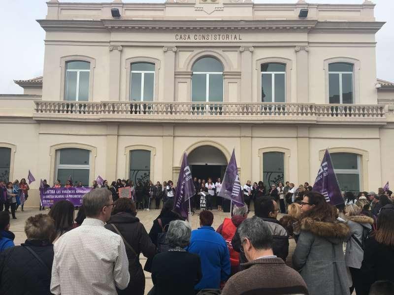 Concentración por el 8 de marzo en Alfafar. EPDA