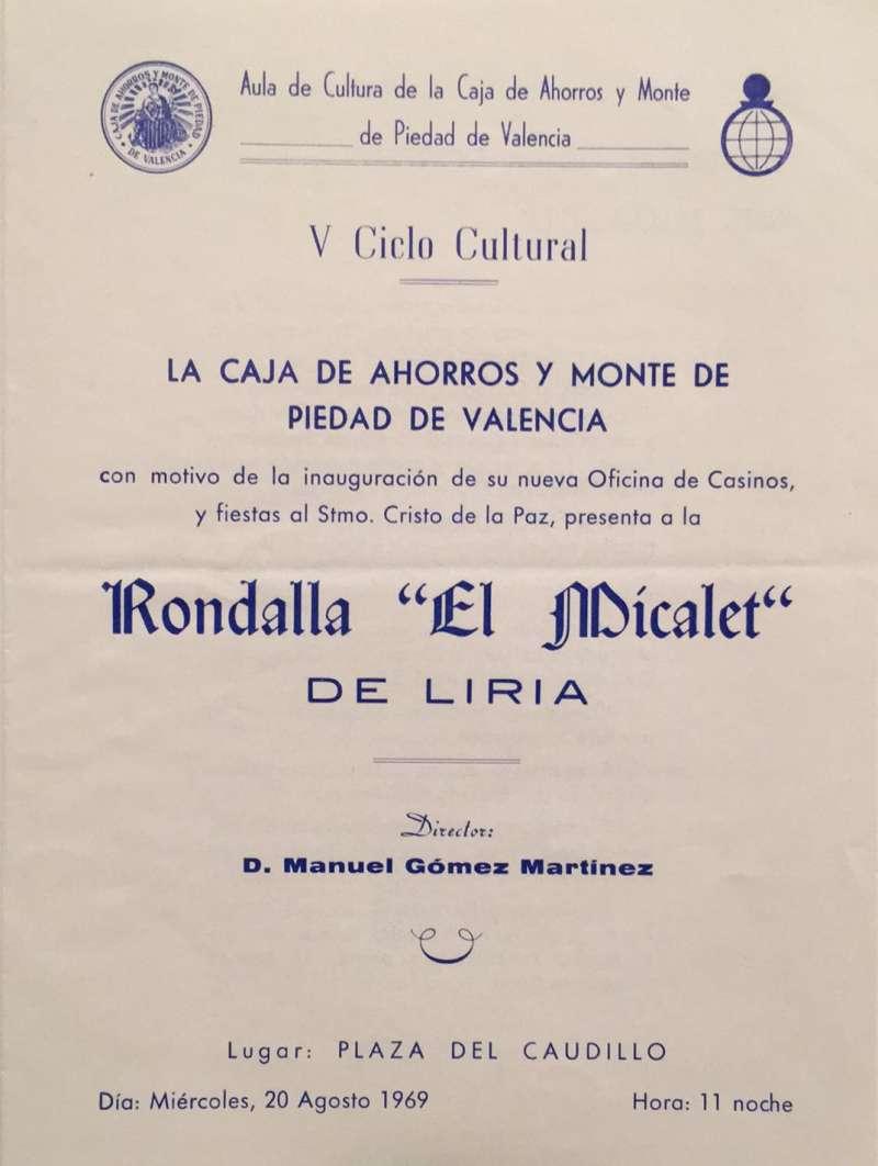 Actuación con motivo de la inauguración de la Caja de Ahorros de Valencia. EPDA
