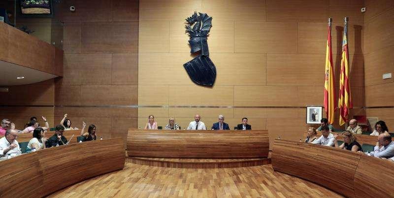 Pleno de la Diputación de Valencia. EFE/Archivo