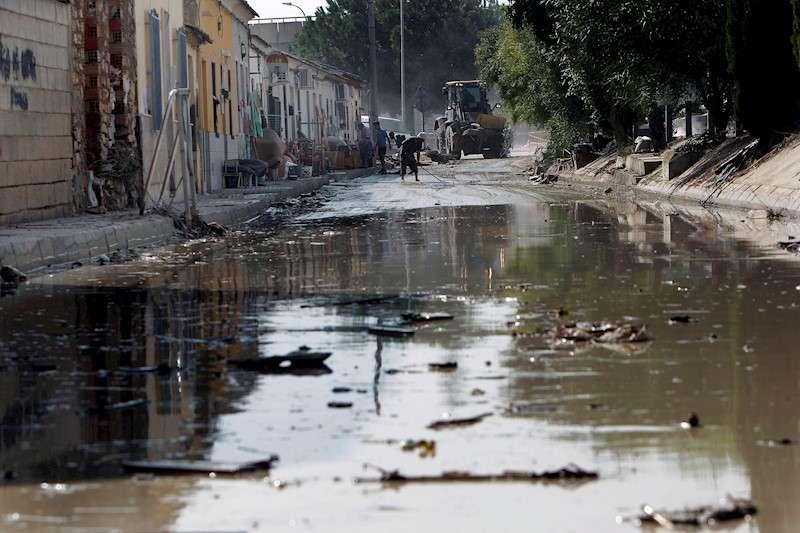 Un barrio inundado en el municipio de Almoradí. EFE/Morell/Archivo