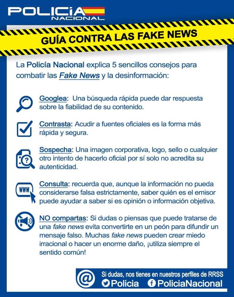 Infografía para evitar fake news