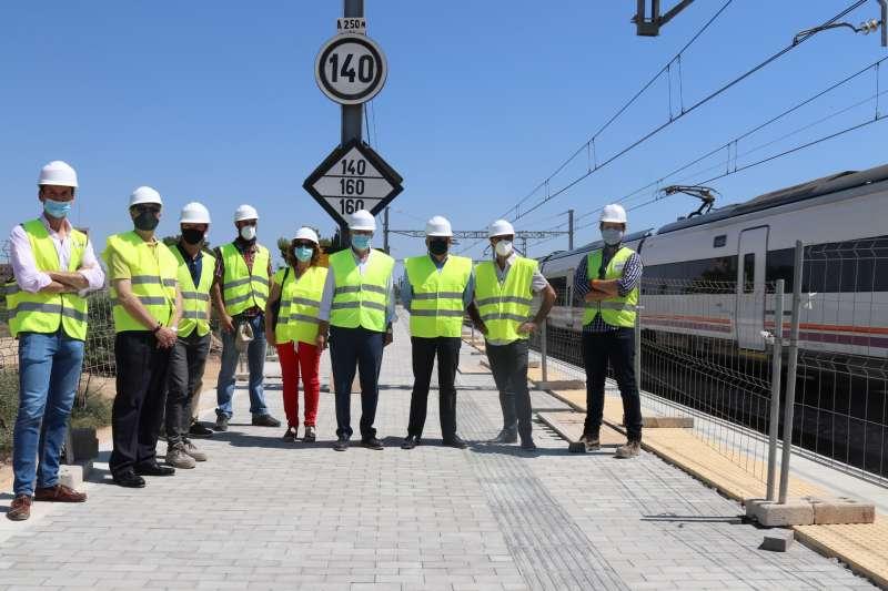 Obras en la estación de Albal. EPDA