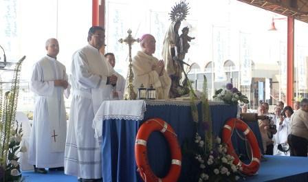 Celebración del Día de la Virgen del Carmen en el puerto de Valencia. Foto EPDA