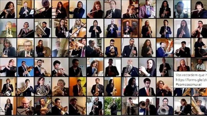 Músicos participantes en la iniciativa, en una imagen difundida por COSOMUVAL.