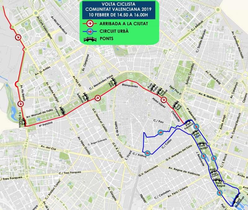 Plano de la Vuelta Ciclista