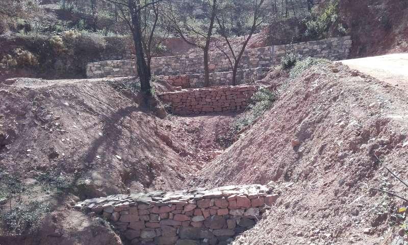 Muretes contra la erosión