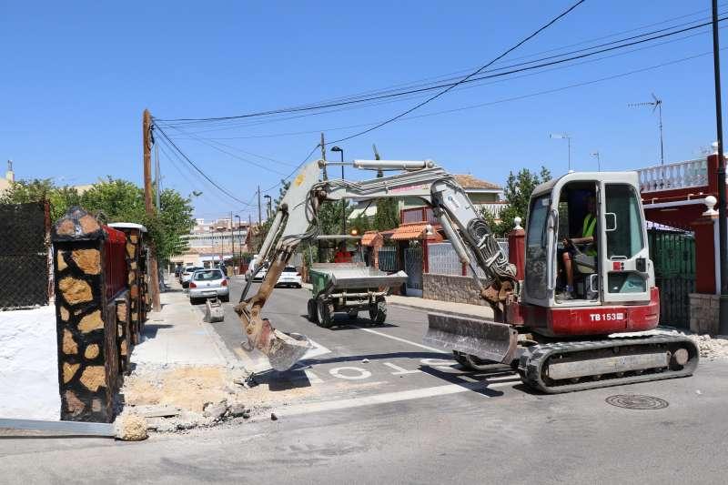 Obras en las calles de La Marxadella