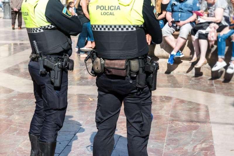 Policía Local en una imagen de archivo. EPDA
