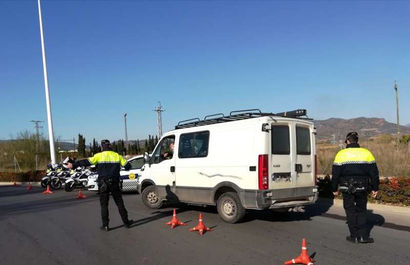 Control de la Policía Local. EPDA